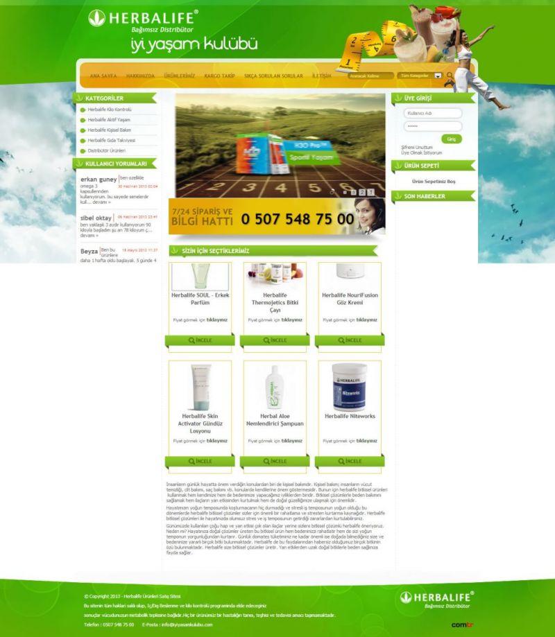 iyi yaşam kulübü- herbalife ürünleri satışı